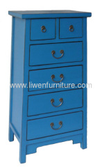 China antique blue chest
