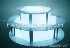 China 3 tiers LED base chocolate fountain surround desk