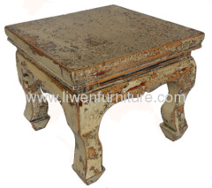 Chinese antiques stool crack lacquer