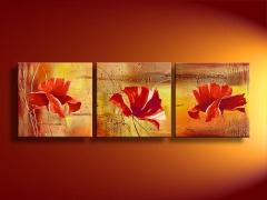 Handmade Floral Oil Painting On Canvas
