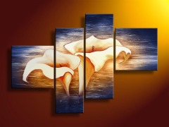 Classic Flower Oil Painting With Texture
