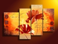 Handmade Flower Group Oil Paintings