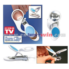 Certo clip tagliaunghie con la luce del LED / lente d'ingrandimento COME VISTO IN TV