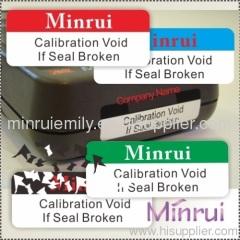 calibration stickers labels