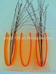 clear acrylic vases