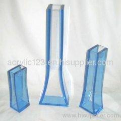 acrylic transparent vase