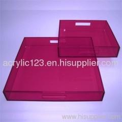 beautiful acrylic service tray
