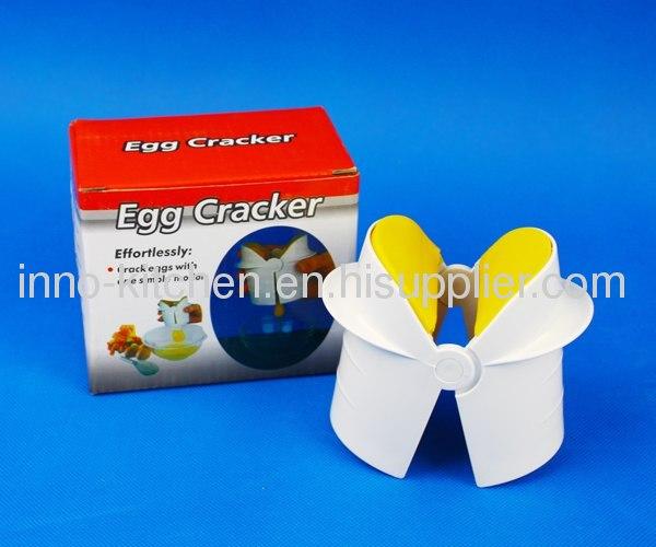 Industrial egg cracker separator