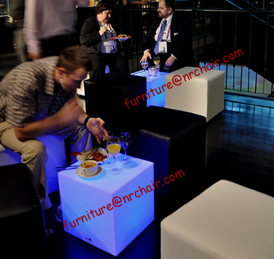 Event Acrylic Lounge Led Light Sitting Cube Seat From