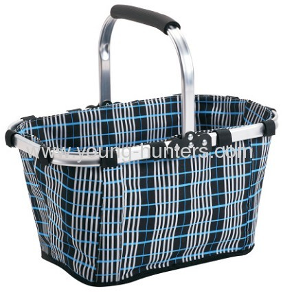 Aluminum Frame Fabric Folding Shopping Basket From China