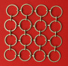 brass circle curtain ring mesh brass hook mesh