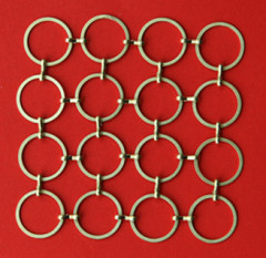 decorative metal ring mesh as divider