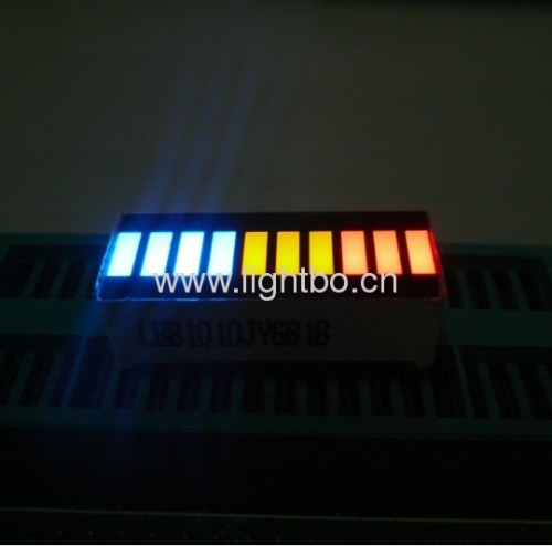 25.4x10.1mm Multi-colour 10-Segment LED Light Bar