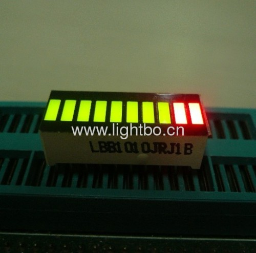 Super helle Grün / Rot 10 Segment LED Light Bar Gradh Array für Instrumententafel