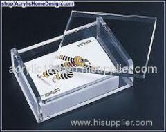 acrylic recipe card holder boxes