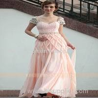 new arrival 100% handcraft new design prom dress pink color 2013