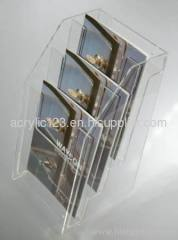acrylic landscape brochure holder