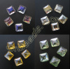 square crystal beads Chinese cut beads