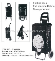 supermarket folding trolley shopper bag