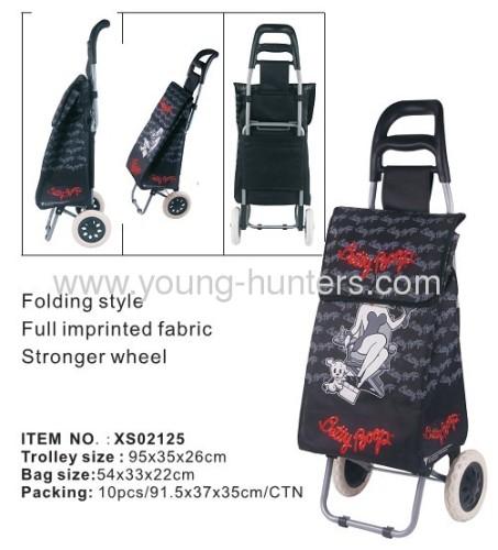 Outdoor easy folding shopping trolley bag