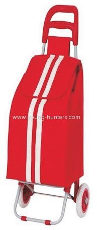 red plastic folding shopping cart bag