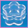 5g Flower Quincunx plastic empty clear jar nail art tool cosmetics container