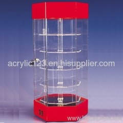 acrylic 5 tier showcase