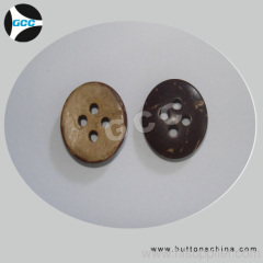 Domed natural coconut button