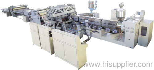 PP double wall hollow sheet production line