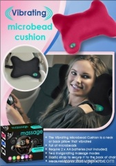 VIBRATING MICROBEAD CUSHION MASSAGE AS SEEN ON TV