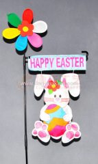 Custom Easter Bunny garden flag