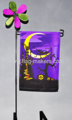 Custom halloween night garden flag