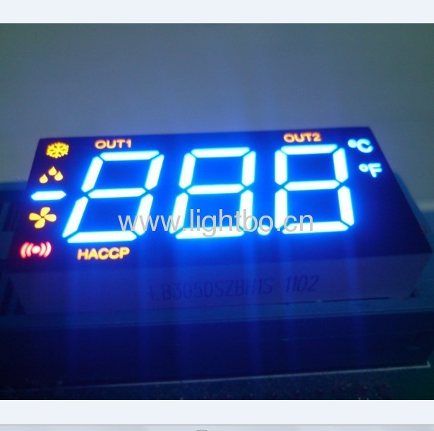 3  1/2 Digits Multi-colour Numeric LED Display for multiunction air conditioner control