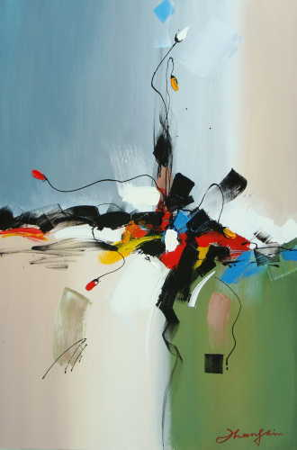 Handmade Abstract Landscape Oil Paintings