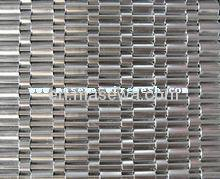 decorative woven metal fabric in elevator