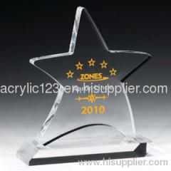acrylic star shape award