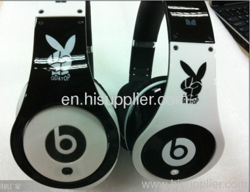playboy studio AAA quality monster studio headphones in black/white