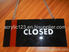 acrylic open closed sign