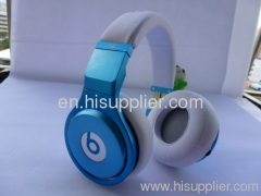 AAA quality Beats by Dr. Dre PRO Headphones From Monster in blue and white