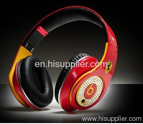Diamond ferrari studio AAA quality Beats by Dr. Dre studio Headphones From Monster