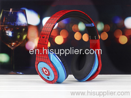 Diamond spiderman studio AAA quality Beats by Dr. Dre studio Headphones From Monster