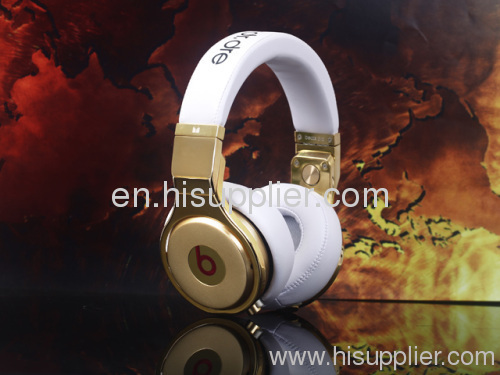 White gold Pro AAA quality Beats by Dr. Dre pro Headphones From Monster