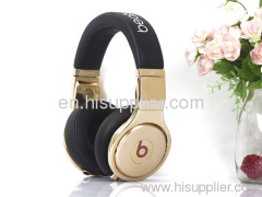 Black gold Pro AAA quality Beats by Dr. Dre pro Headphones From Monster