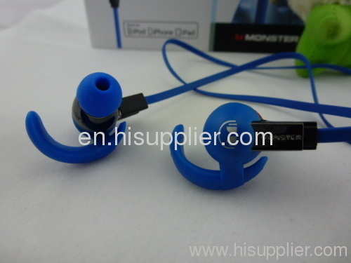 Monster Beats fashion isports in-Ear Headphones in blue