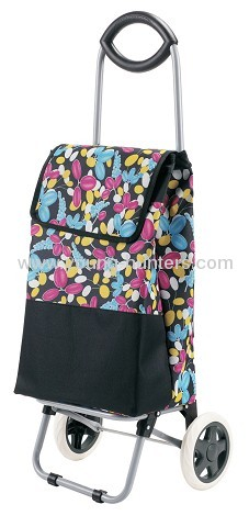 flower printed shopping trolley