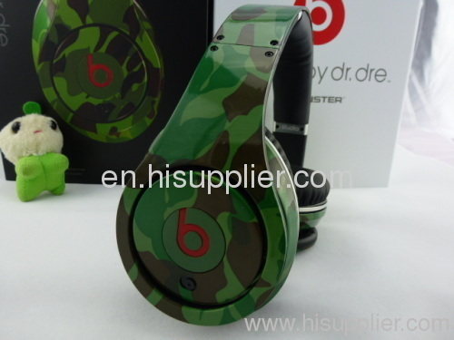 High quality and stereo Monster Beats camo Studio Headphone