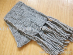 long knitted winter scarf