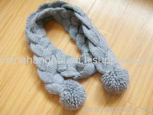 2012 newest fashion long knitted winter scarf