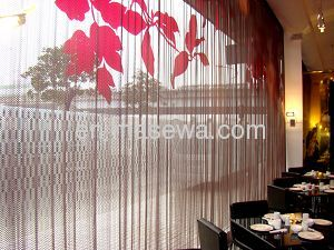 decorative metal wire mesh as curtain