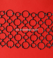 black metal ring decorative mesh